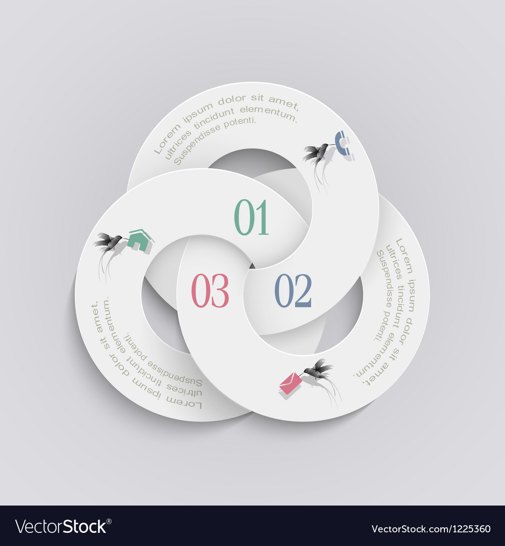 Elegant round design template for infographics vector | Price: 1 Credit (USD $1)
