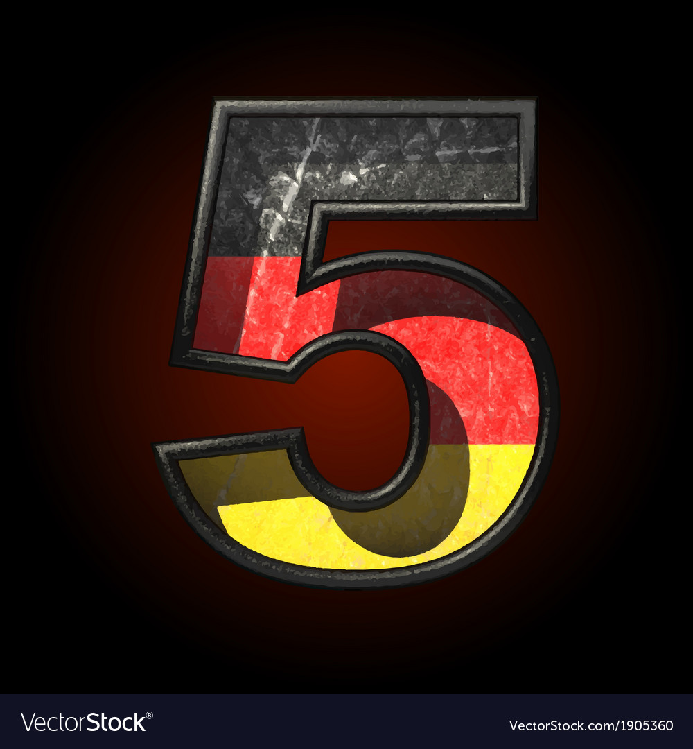 Germany cutted figure 5 vector | Price: 1 Credit (USD $1)