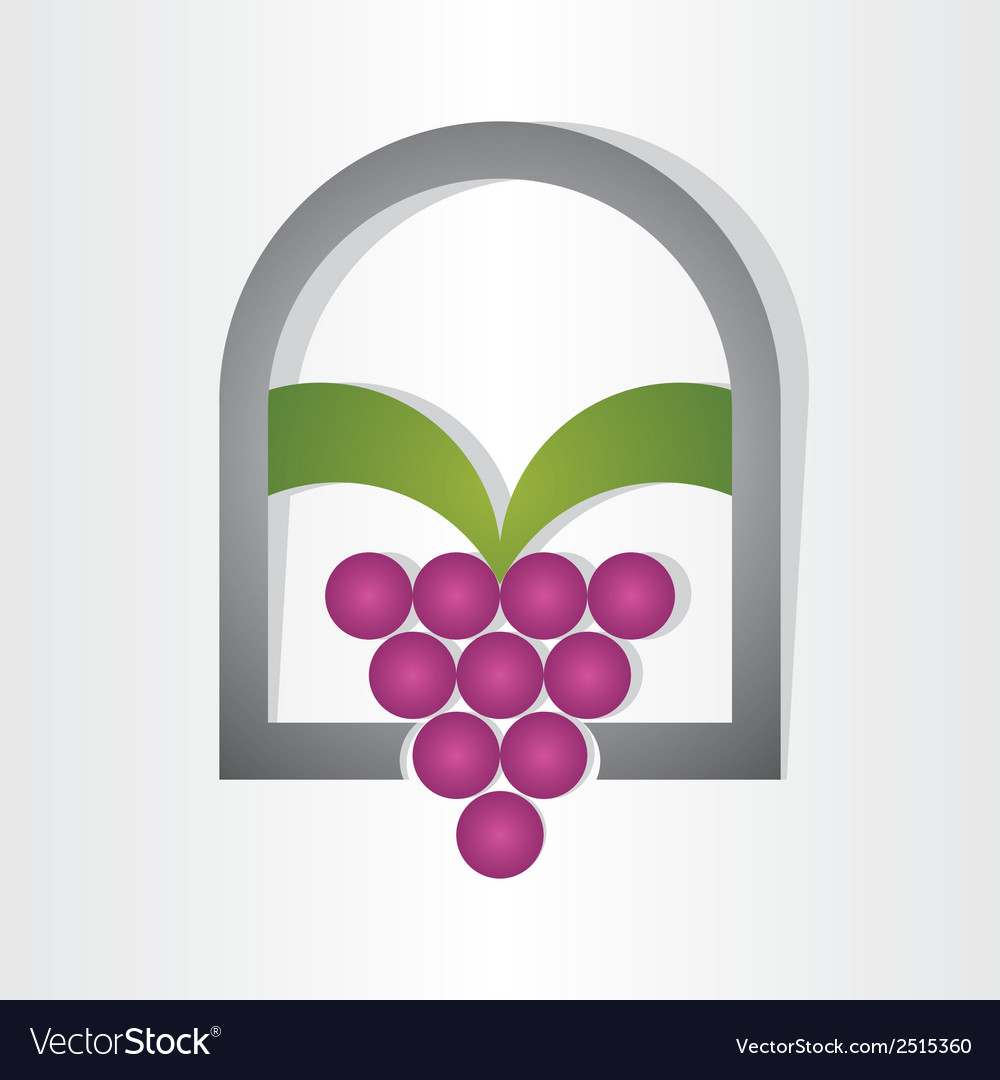 Grape on window design vector | Price: 1 Credit (USD $1)