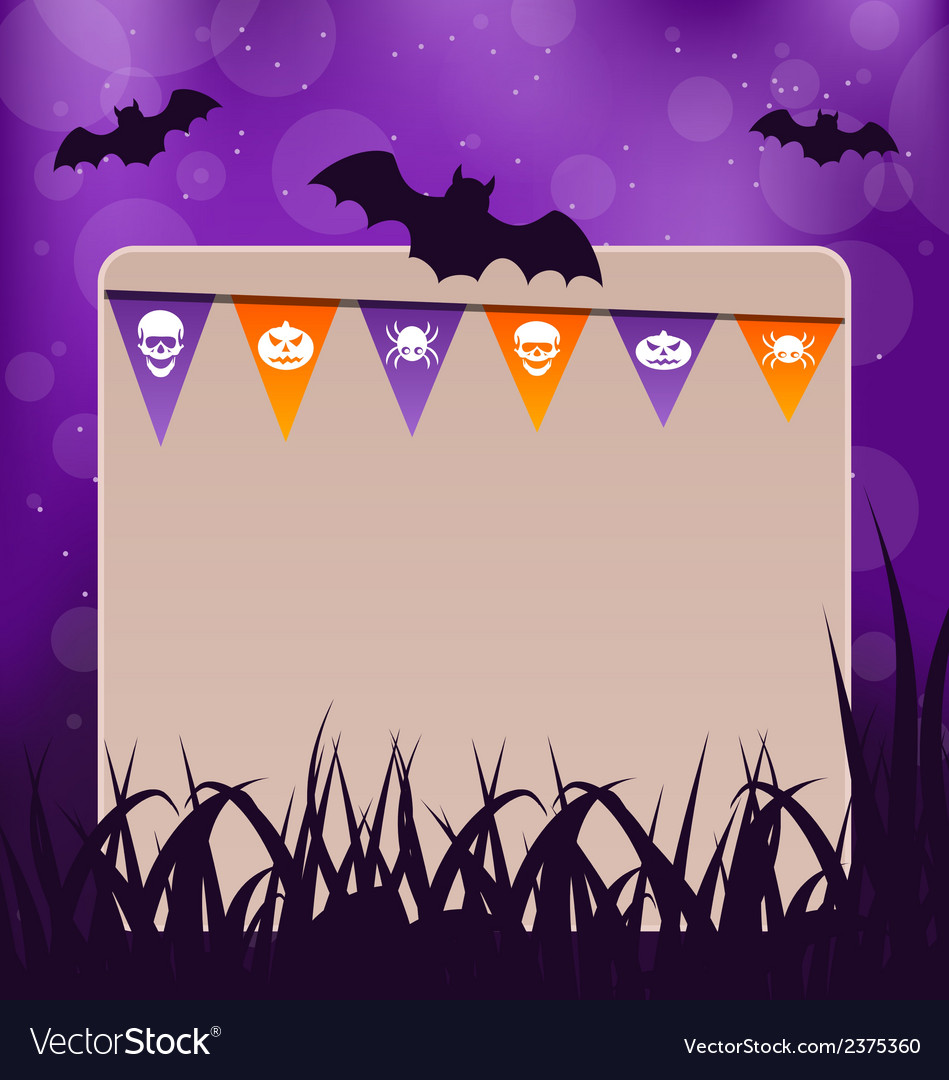 Halloween card with hanging flags vector | Price: 1 Credit (USD $1)