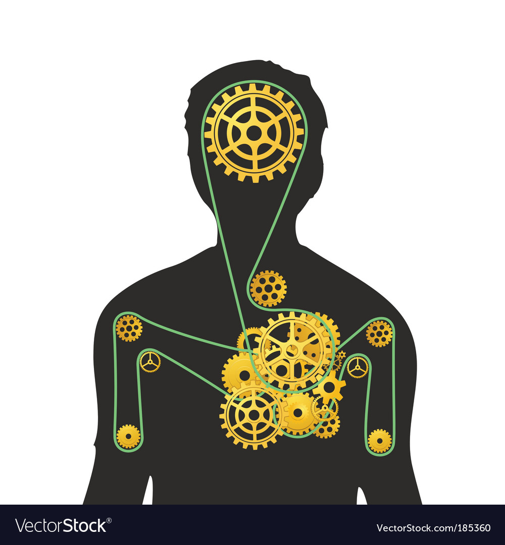 Human machine vector | Price: 1 Credit (USD $1)