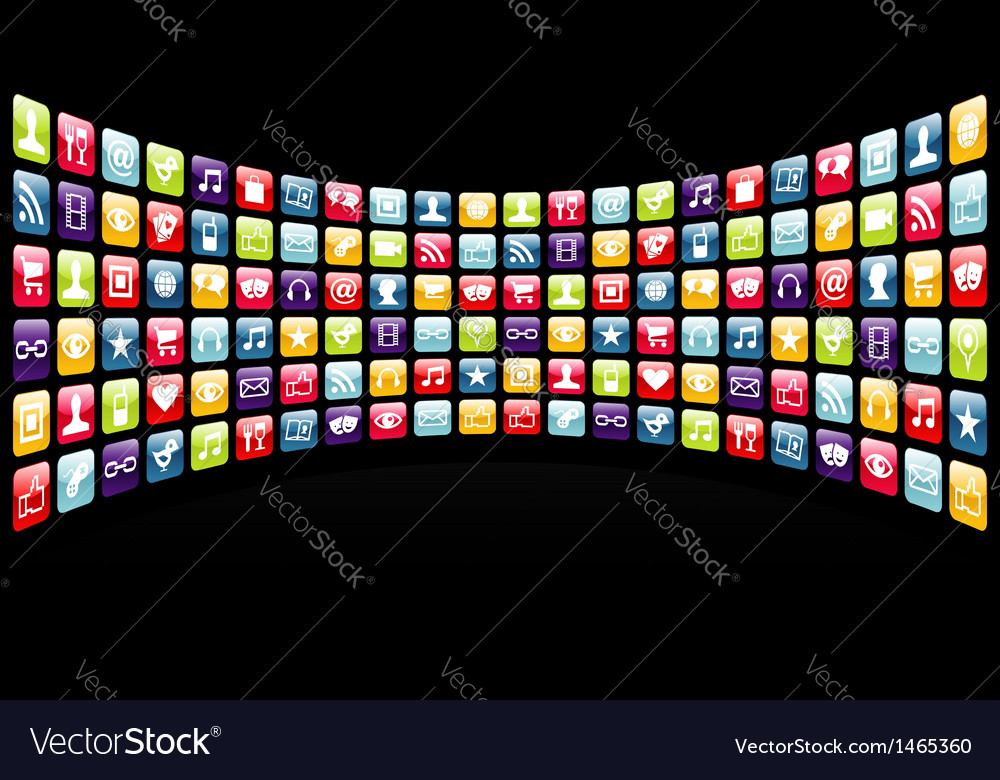 Iphone app icons background vector | Price: 1 Credit (USD $1)