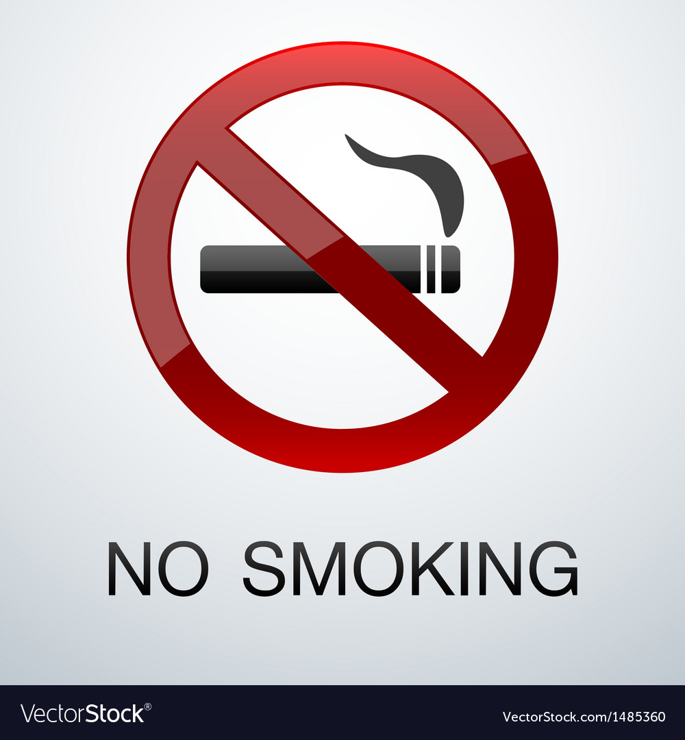 No smoking background vector | Price: 1 Credit (USD $1)