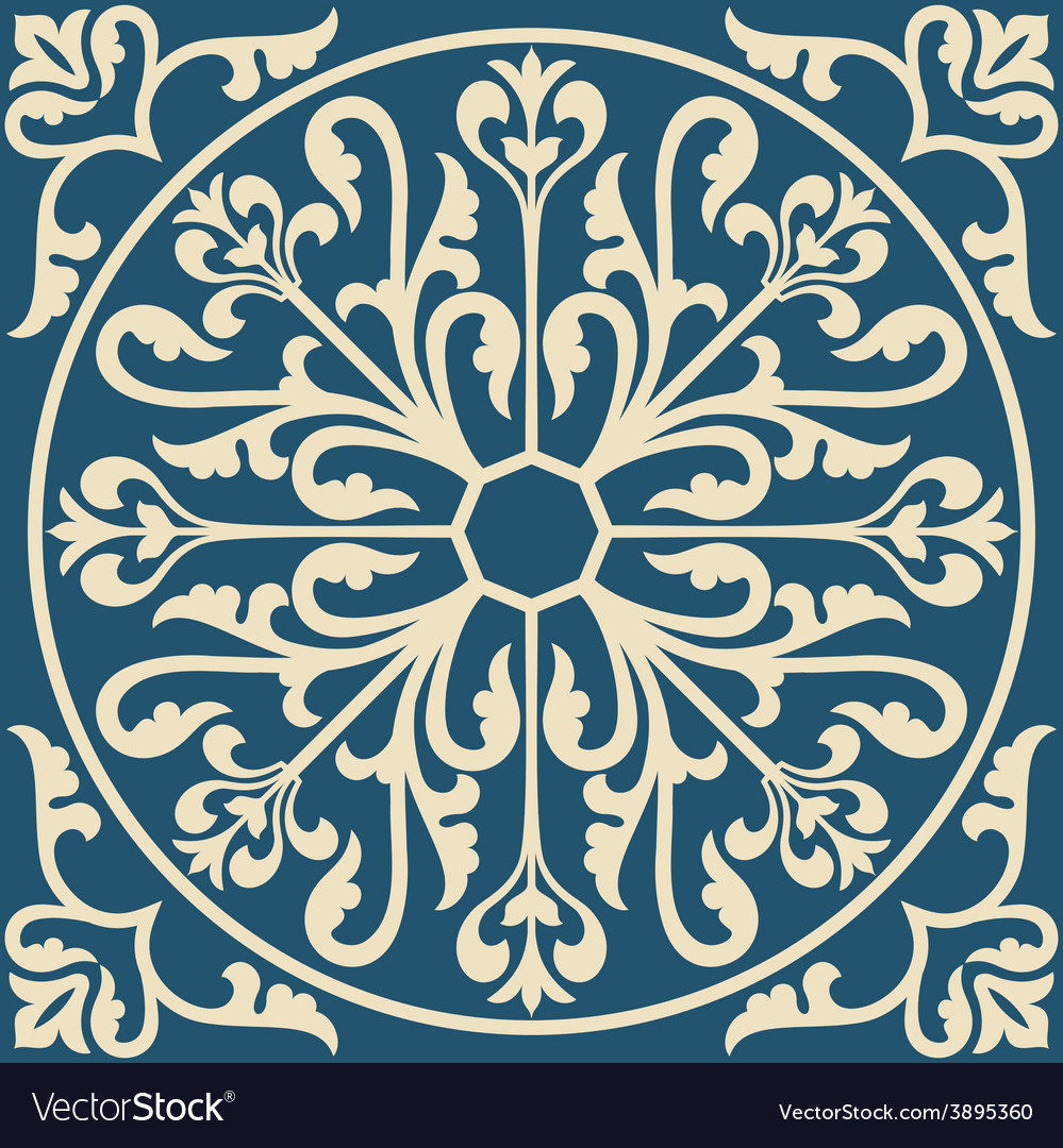 Ornamental floral element for design vector | Price: 1 Credit (USD $1)