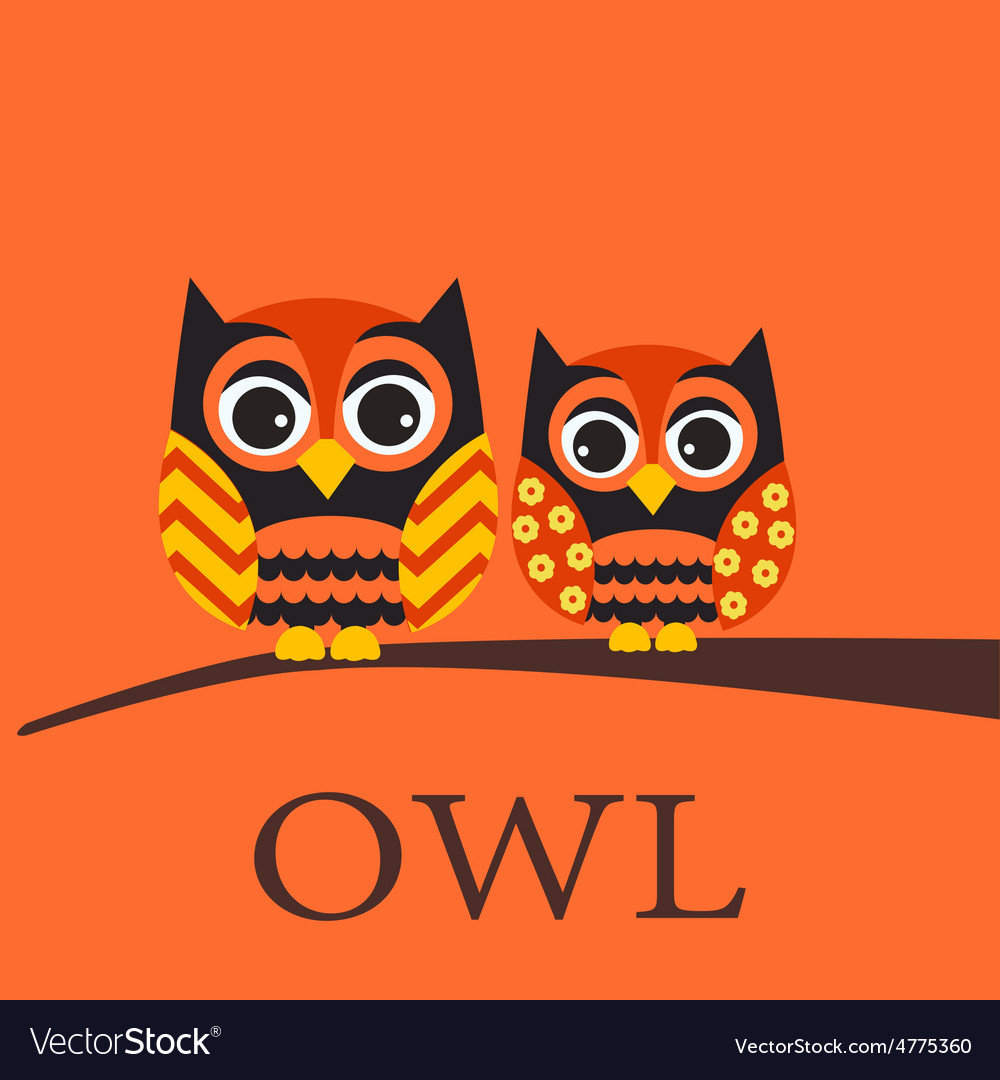Owl family vector   Price: 1 Credit (USD $1)