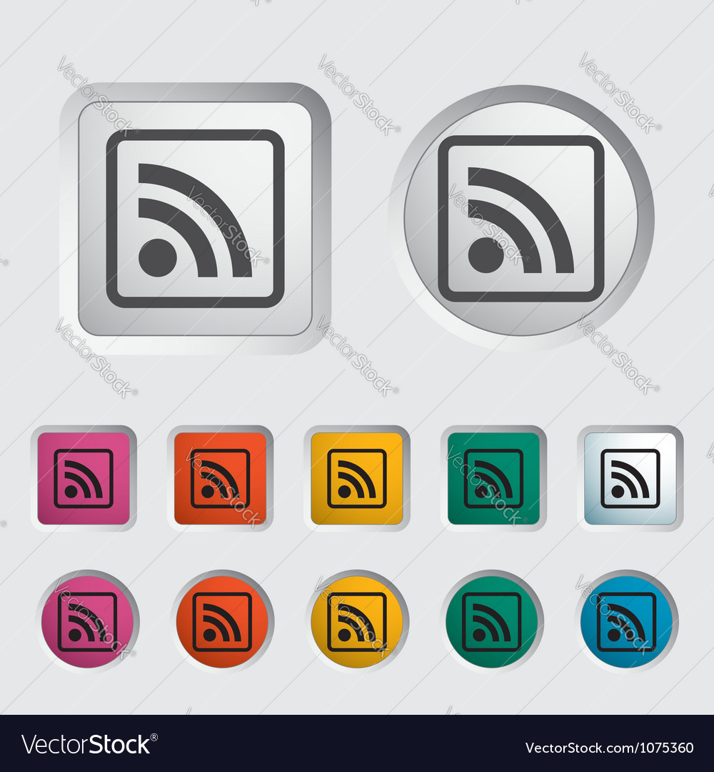 Rss icon 2 vector | Price: 1 Credit (USD $1)