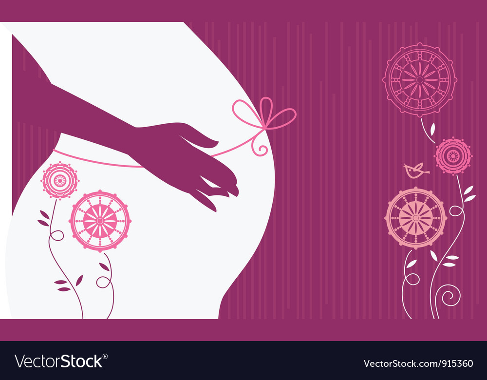 Silhouette of pregnant woman vector | Price: 1 Credit (USD $1)