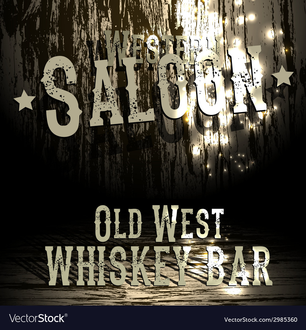 Wild west bar design vector | Price: 1 Credit (USD $1)