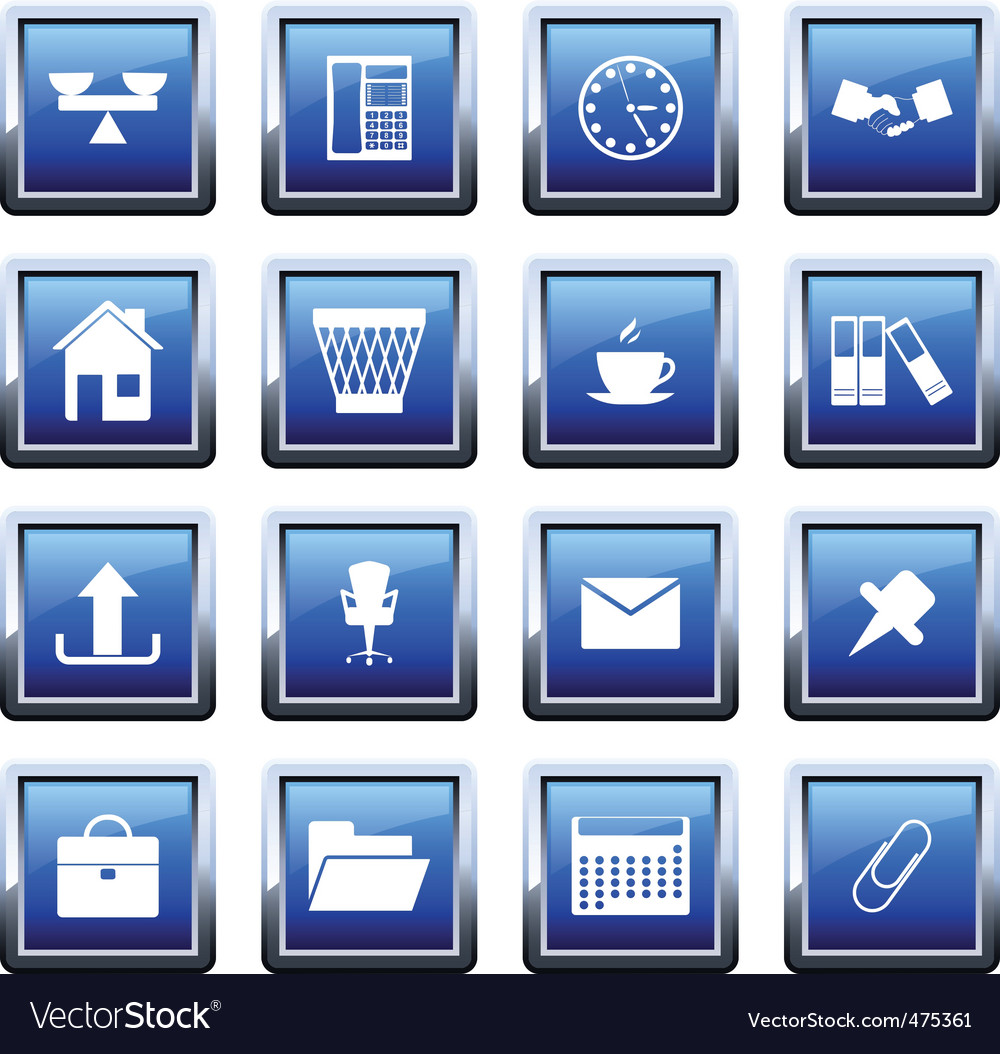 Business and office icon set vector | Price: 1 Credit (USD $1)