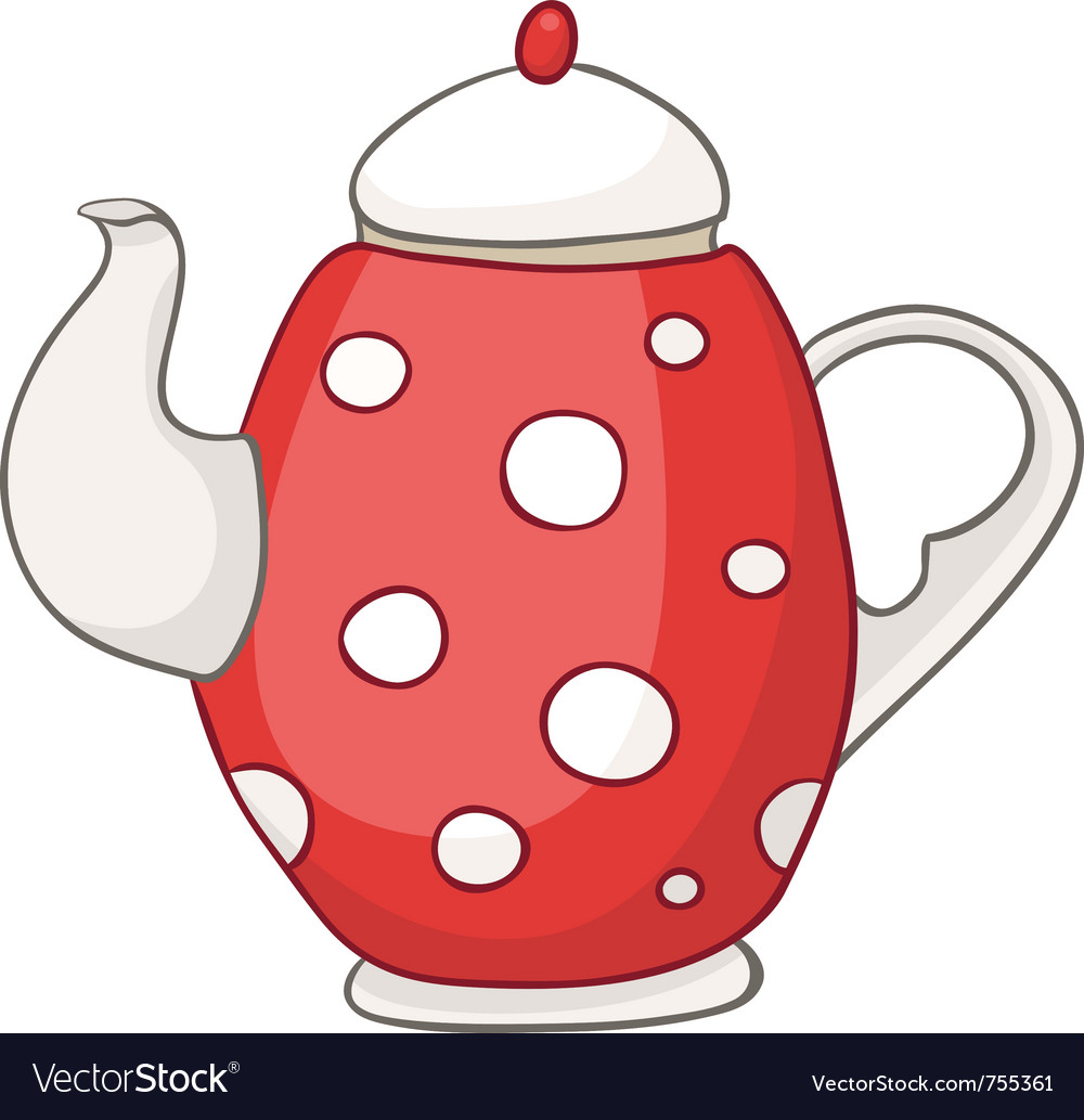 Cartoon home kitchen kettle vector | Price: 1 Credit (USD $1)