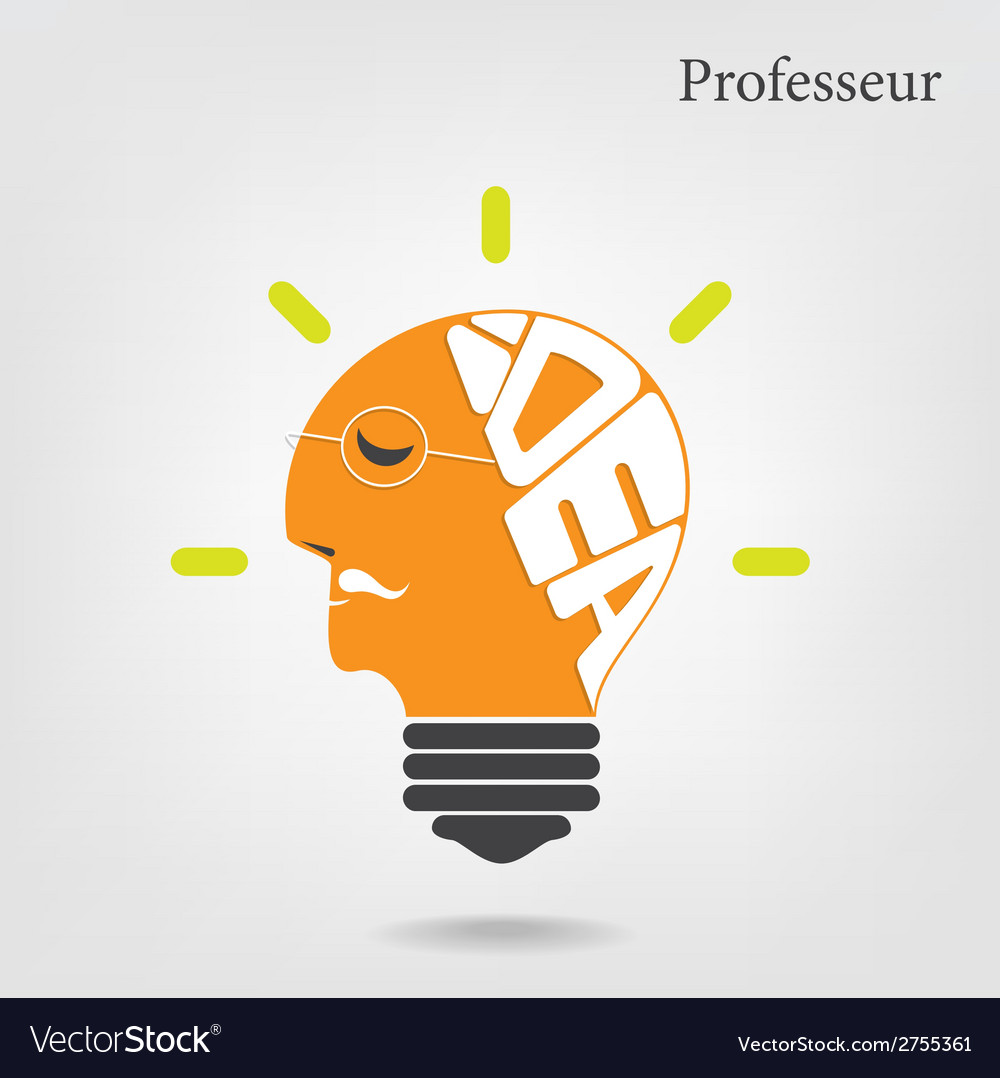 Creative light bulb and education or business idea vector | Price: 1 Credit (USD $1)
