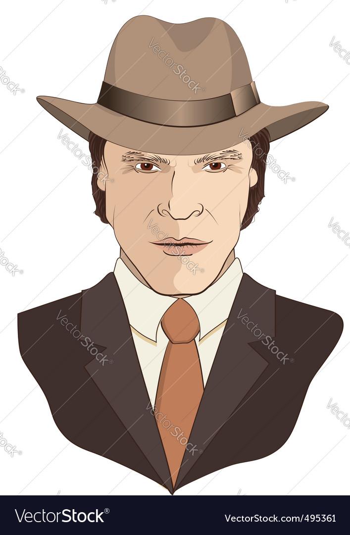 Film noir man vector | Price: 3 Credit (USD $3)