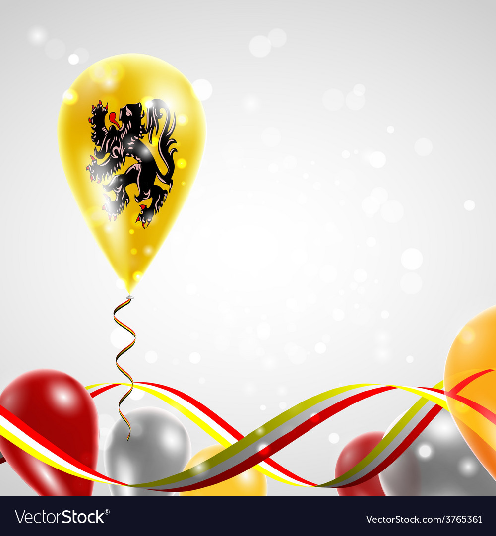 Flag of flanders on balloon vector | Price: 3 Credit (USD $3)