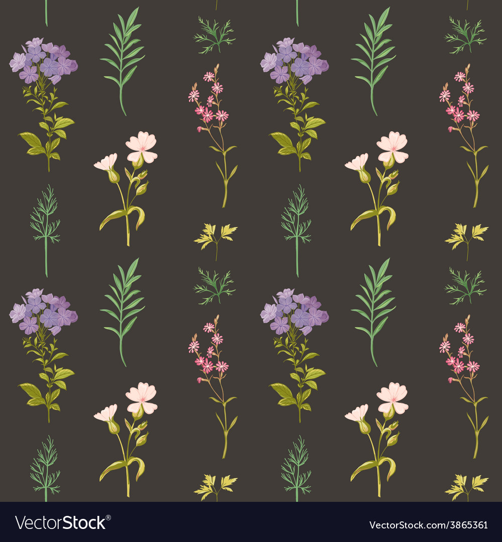 Floral background - seamless pattern vector | Price: 1 Credit (USD $1)