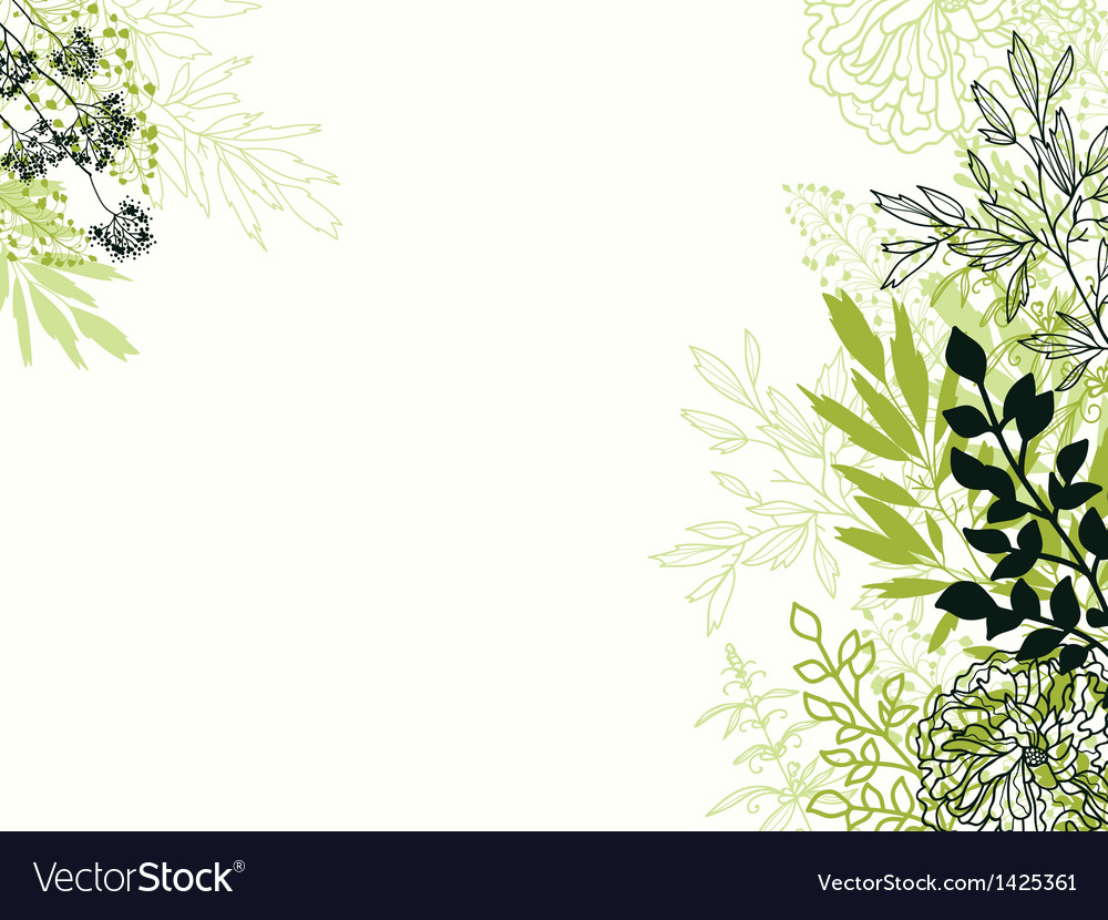 Green and black floral background backdrop vector | Price: 1 Credit (USD $1)