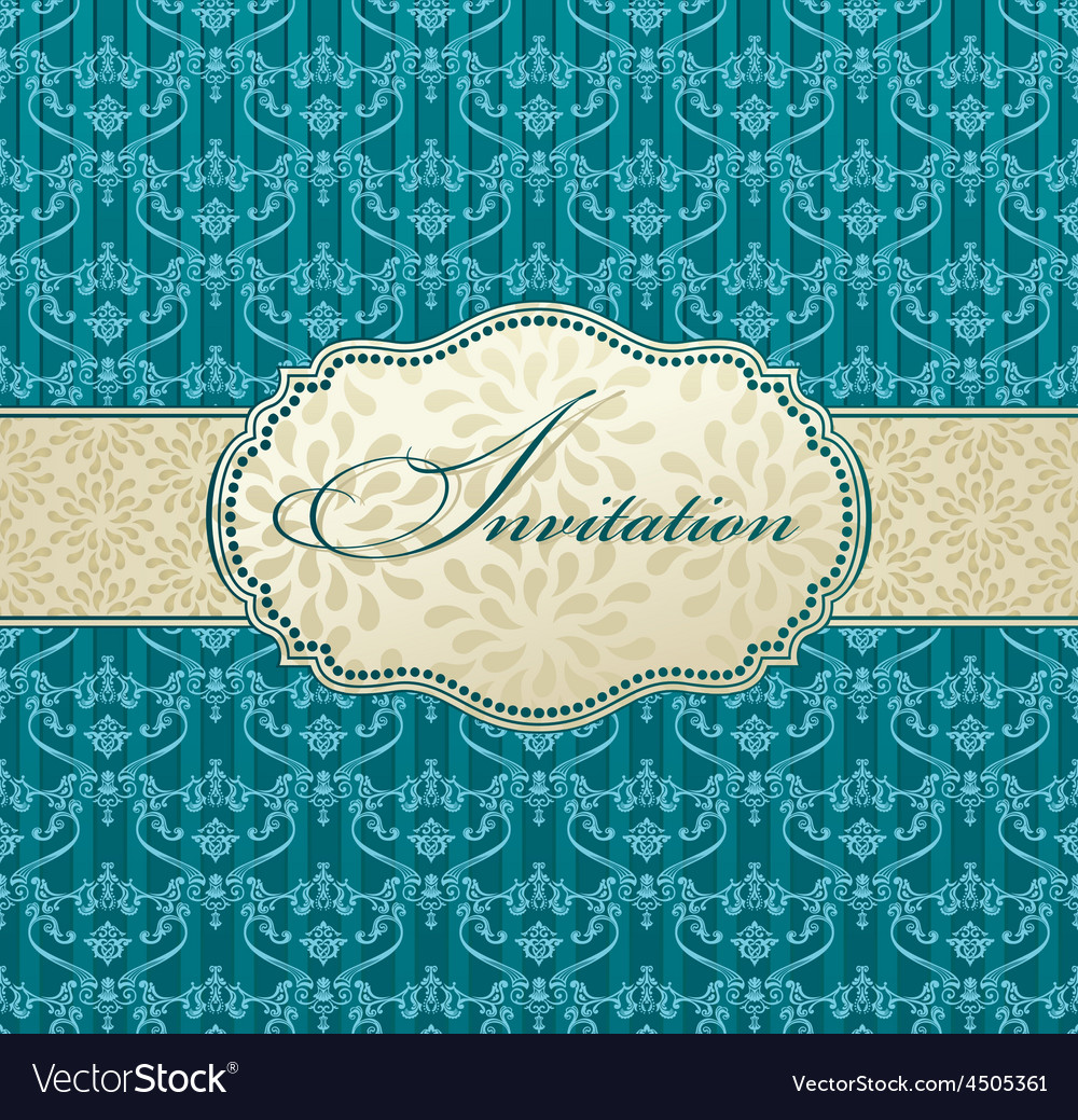 Invitation art frame package label vintage with vector   Price: 1 Credit (USD $1)