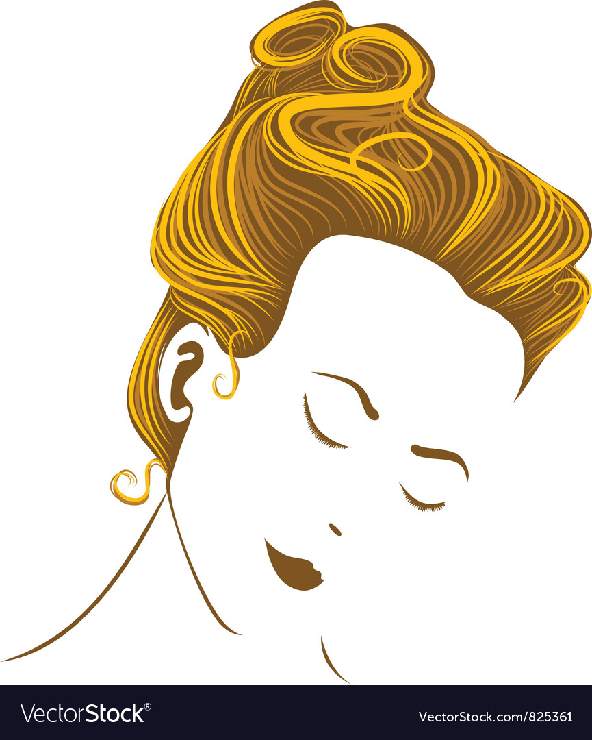 Woman head vector | Price: 1 Credit (USD $1)