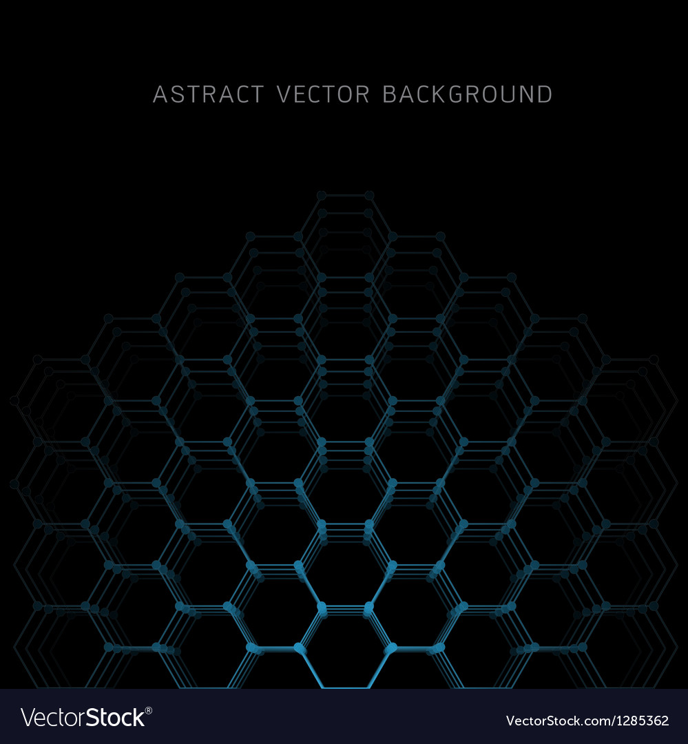 Abstract hexagon shapes background vector | Price: 1 Credit (USD $1)