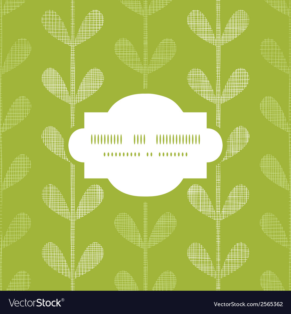Abstract textile green vines leaves frame seamless vector | Price: 1 Credit (USD $1)
