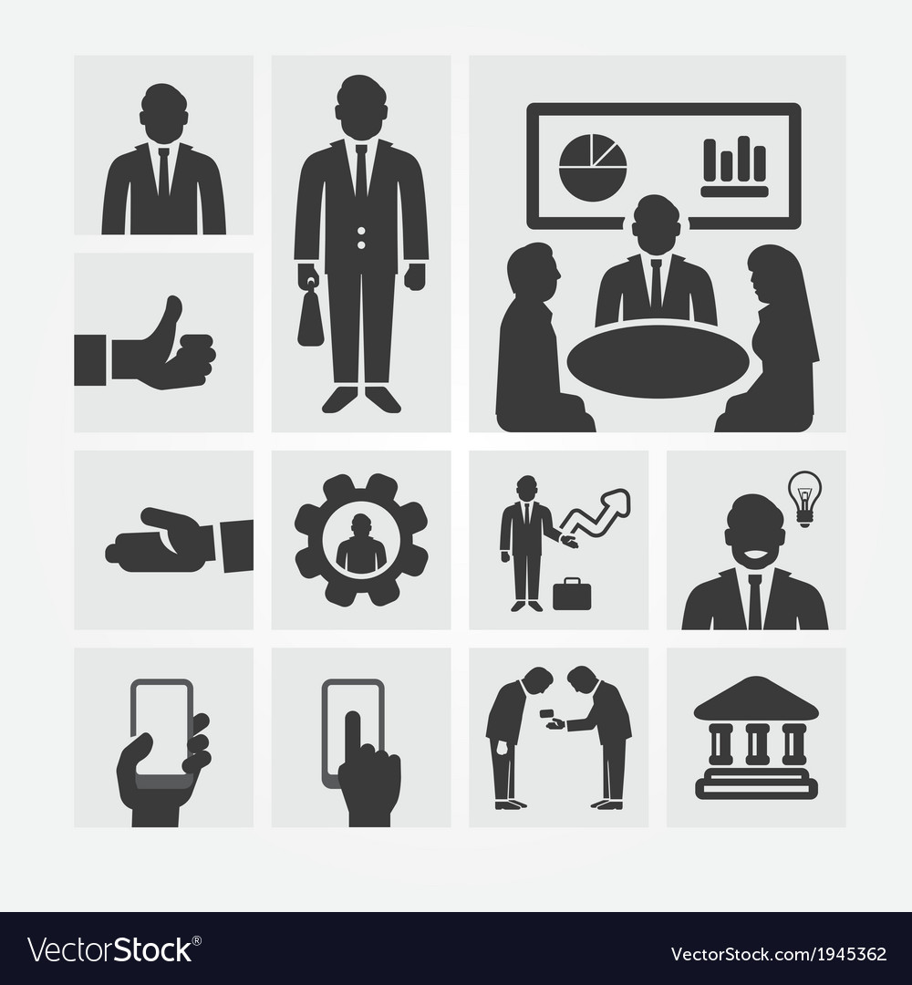 Business icons management and human resources vector | Price: 1 Credit (USD $1)