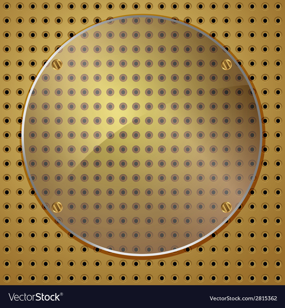 Circle on gold vector | Price: 1 Credit (USD $1)