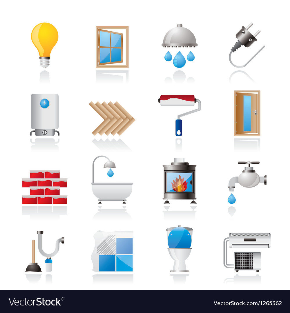Construction and home renovation icons vector | Price: 3 Credit (USD $3)