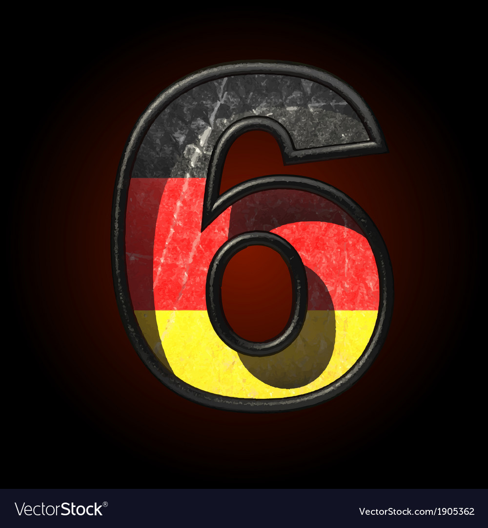 Germany cutted figure 6 vector | Price: 1 Credit (USD $1)