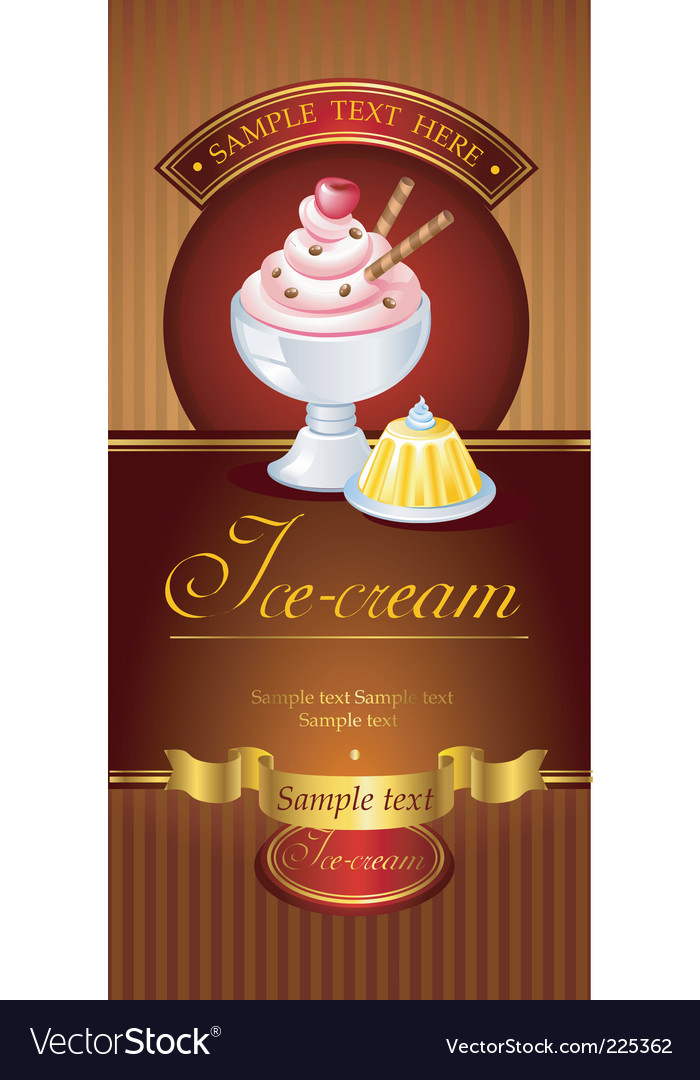 Icecream banner vector | Price: 3 Credit (USD $3)