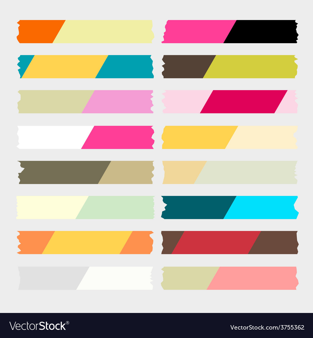 Masking tape two tone vector | Price: 1 Credit (USD $1)