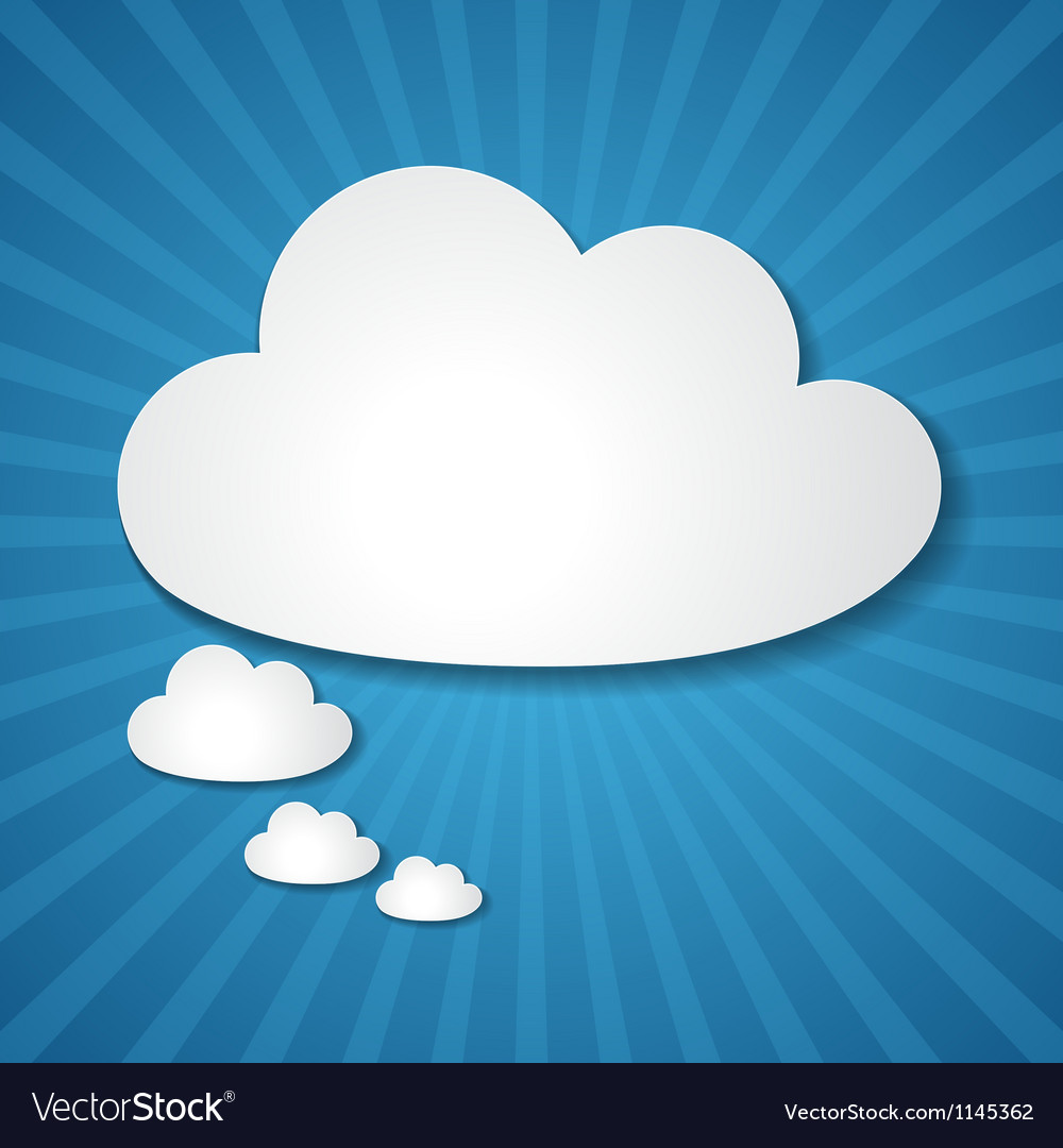 Paper clouds background vector   Price: 1 Credit (USD $1)