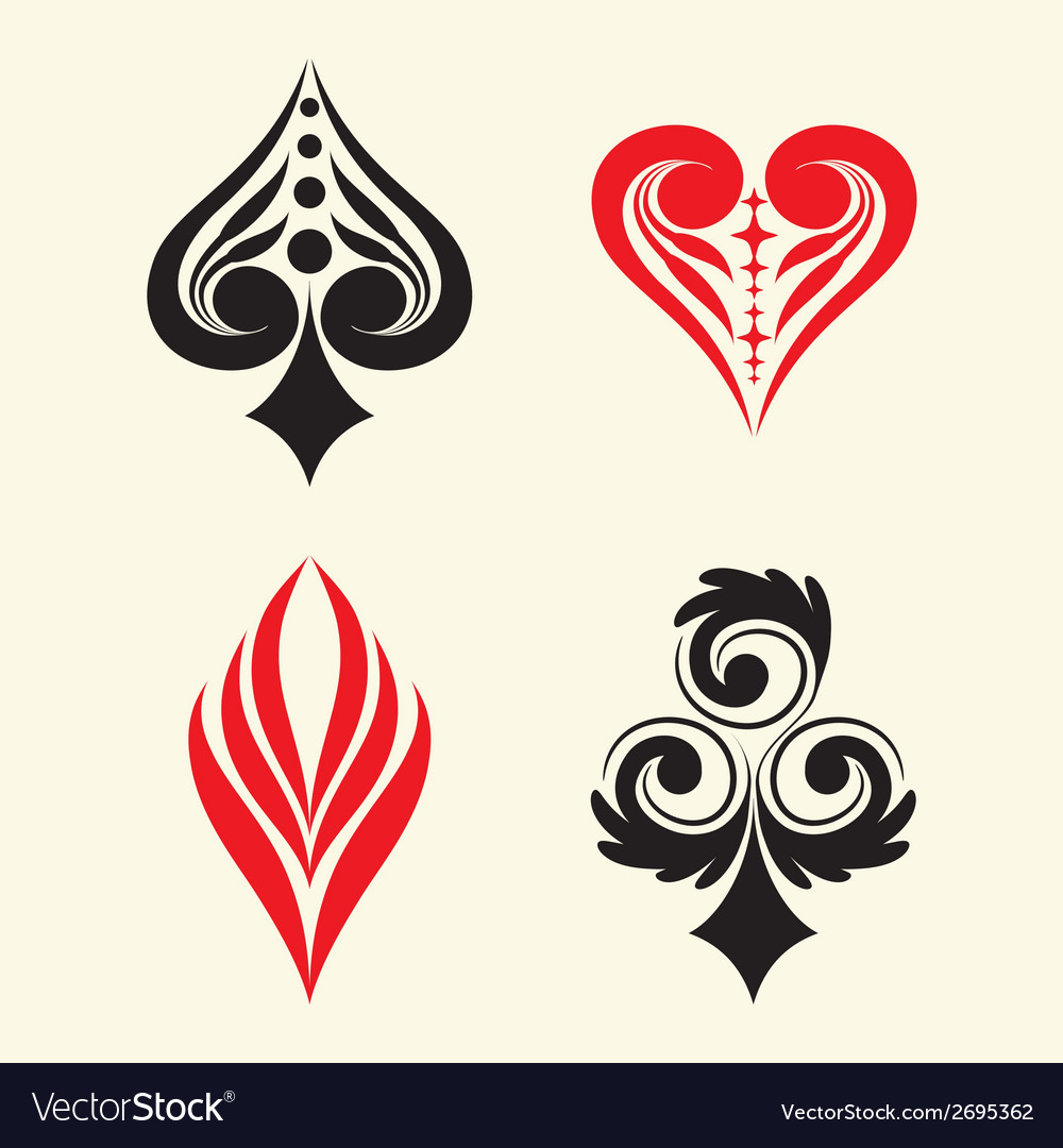 Playing card simple ornament vector | Price: 1 Credit (USD $1)