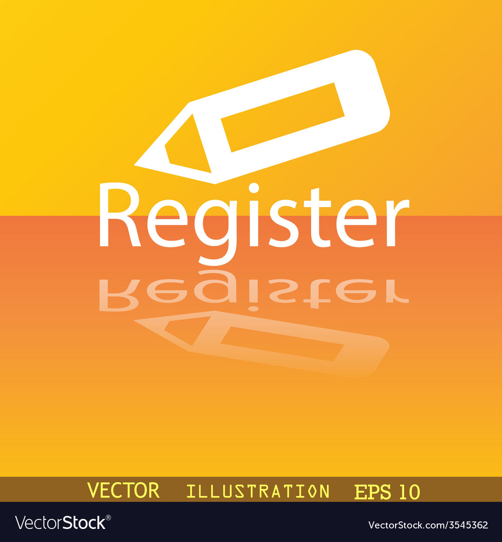 Register icon symbol flat modern web design with vector | Price: 1 Credit (USD $1)