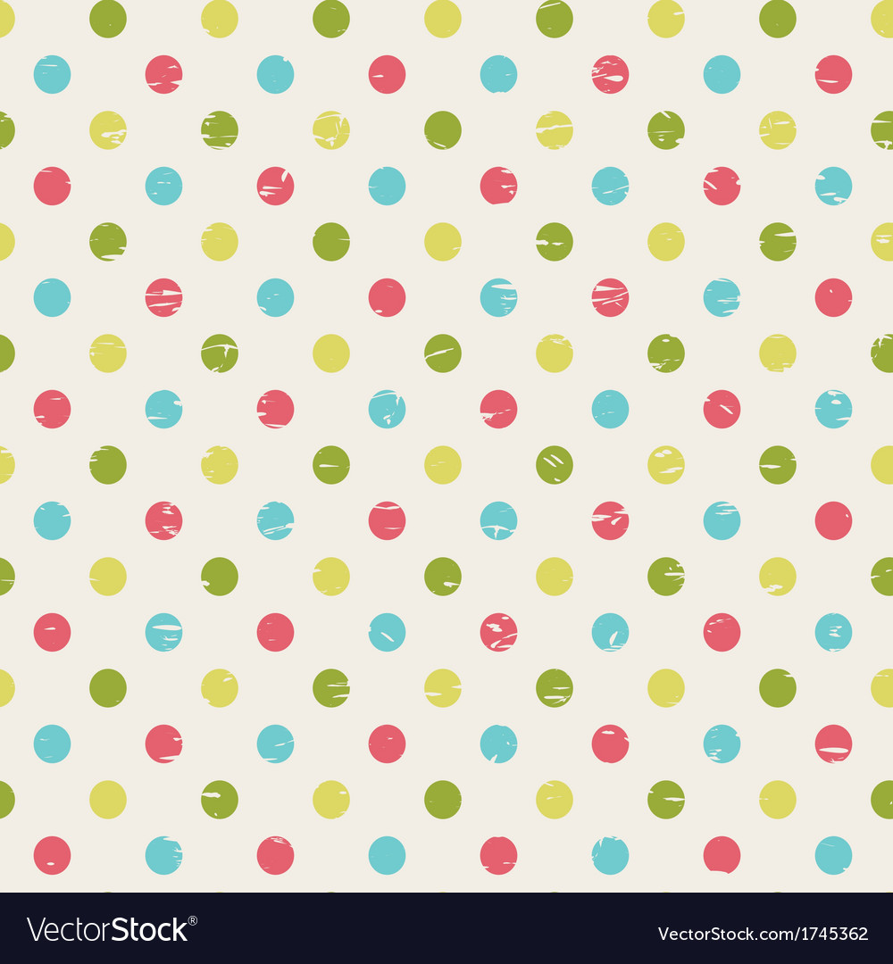Retro seamless pattern with polka dots vector | Price: 1 Credit (USD $1)