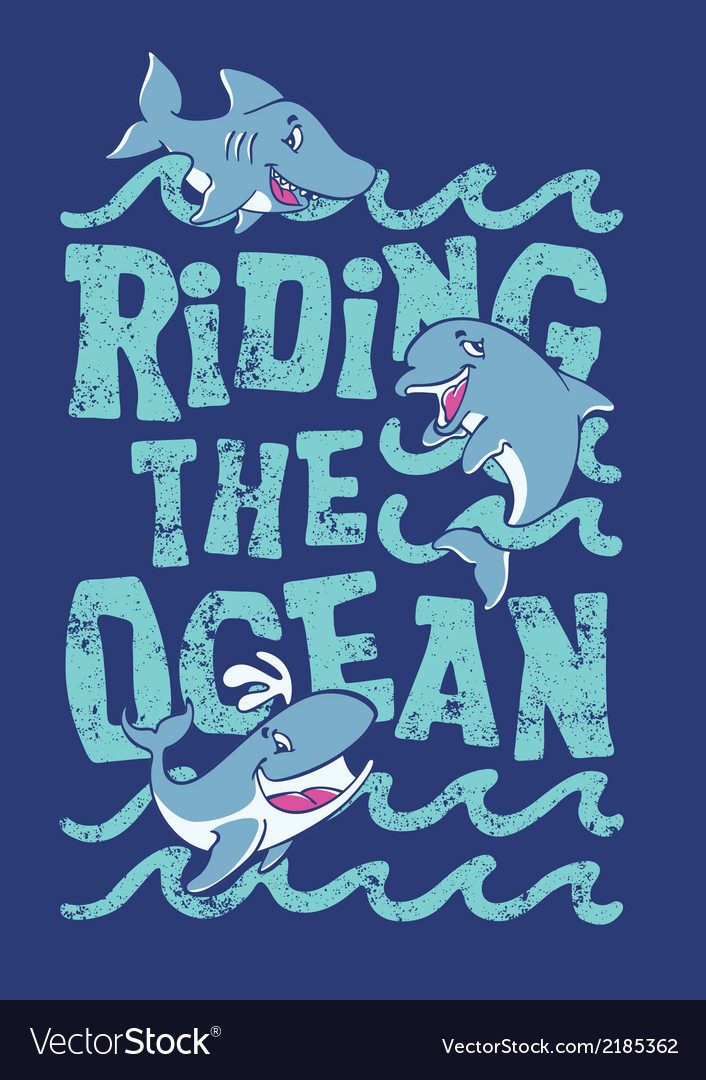 Riding the ocean vector | Price: 1 Credit (USD $1)