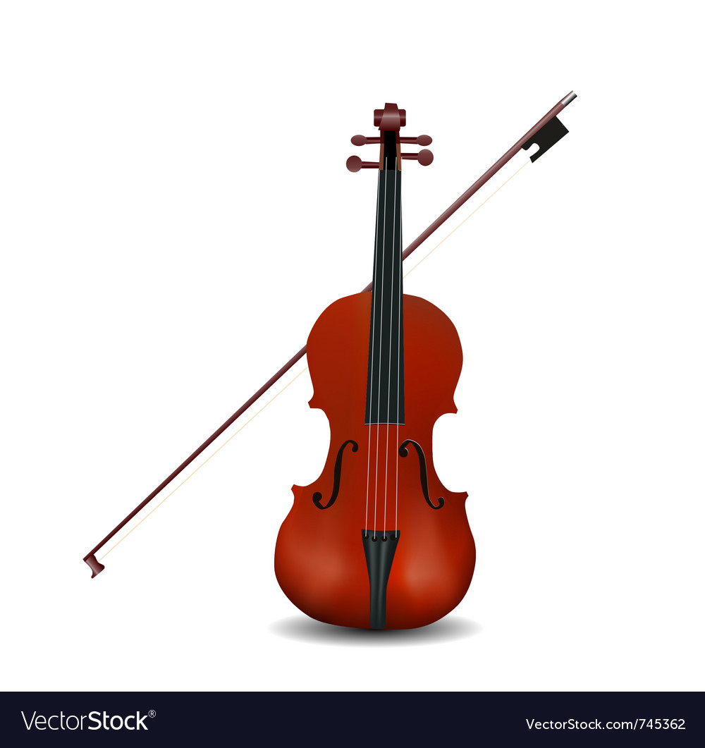Violin isolated vector | Price: 1 Credit (USD $1)
