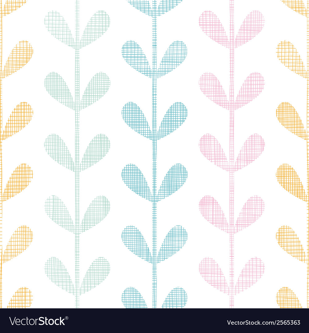 Abstract textile colorful vines leaves seamless vector | Price: 1 Credit (USD $1)