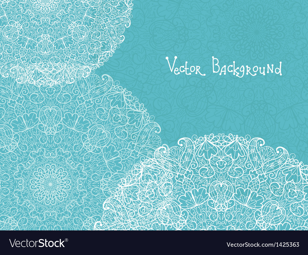 Abstract white and blue doily background vector | Price: 1 Credit (USD $1)