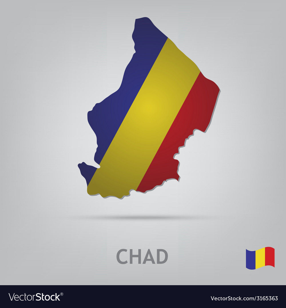Country chad vector | Price: 1 Credit (USD $1)