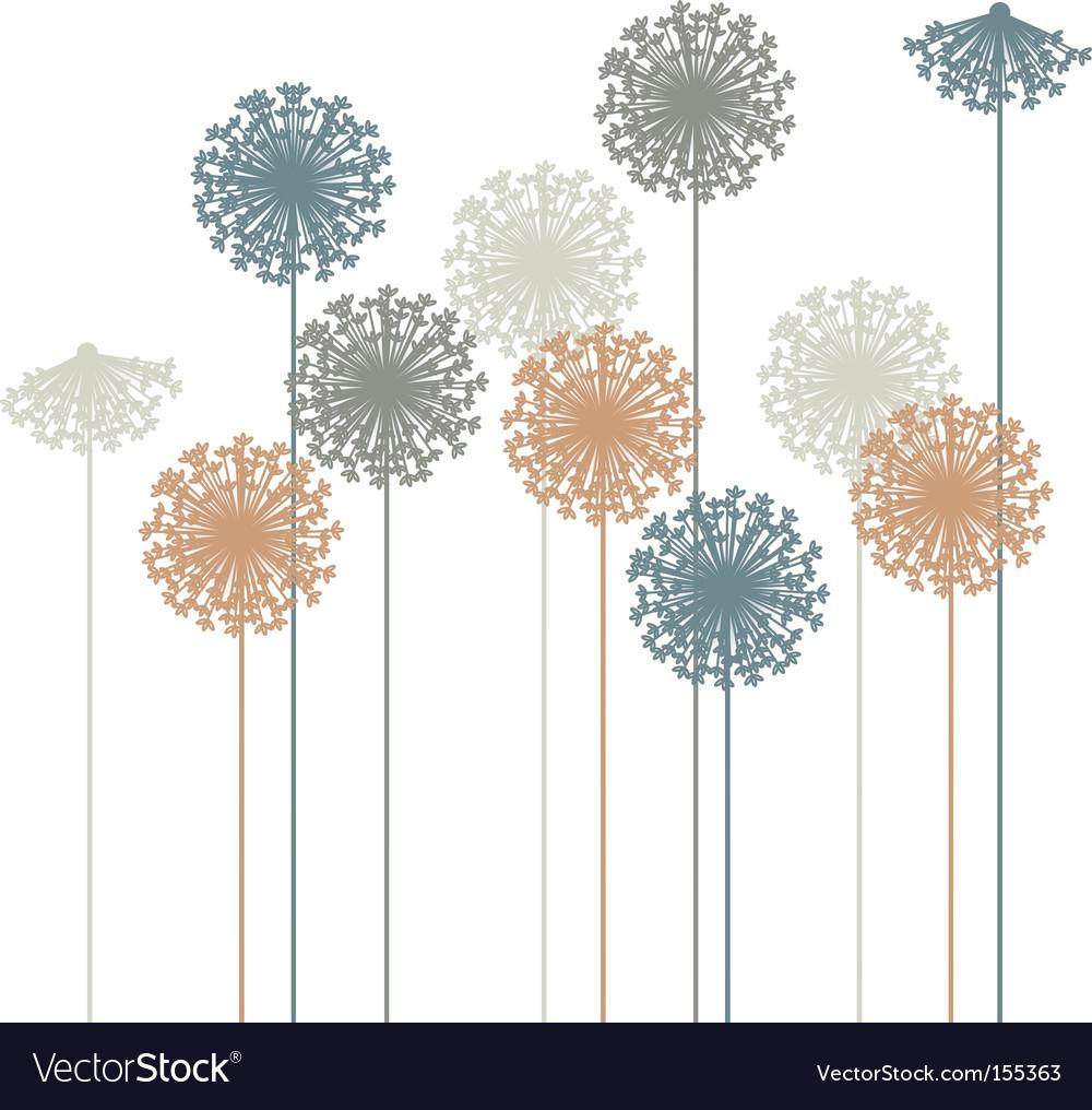 Dandelion silhouette vector | Price: 1 Credit (USD $1)