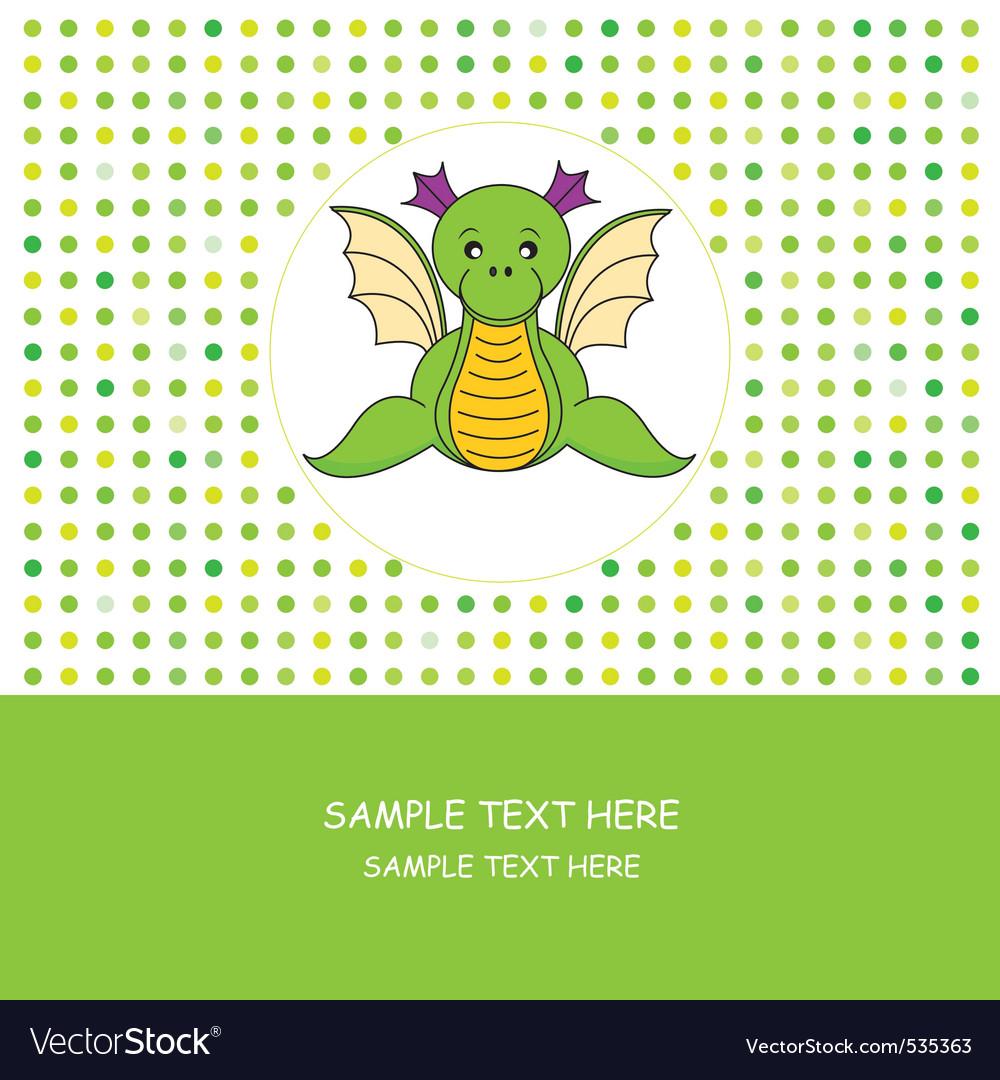 Dragon card vector | Price: 1 Credit (USD $1)