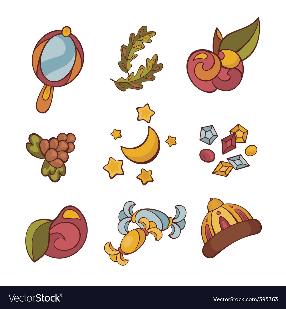 Fairytale things vector | Price: 1 Credit (USD $1)