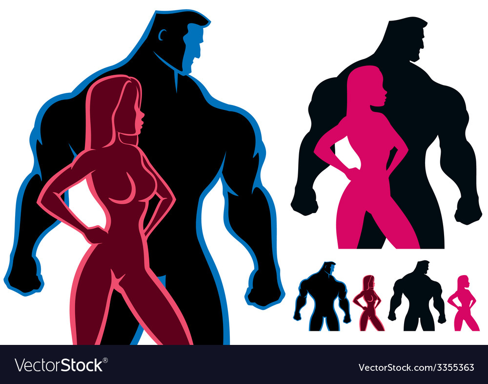Fit couple vector | Price: 1 Credit (USD $1)