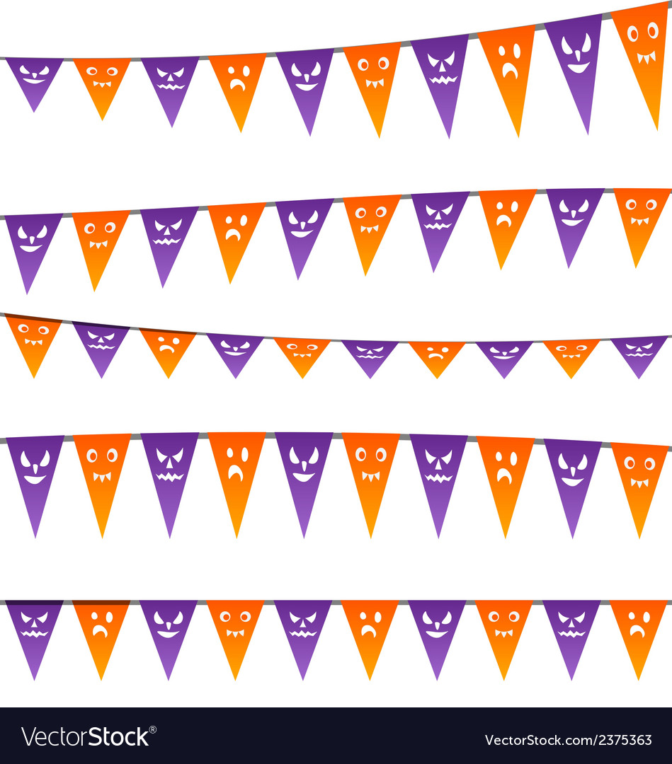 Halloween hanging streamers flags for your party vector | Price: 1 Credit (USD $1)