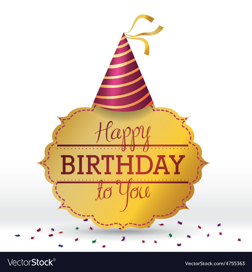 Happy birthday colorful card design vector | Price: 1 Credit (USD $1)