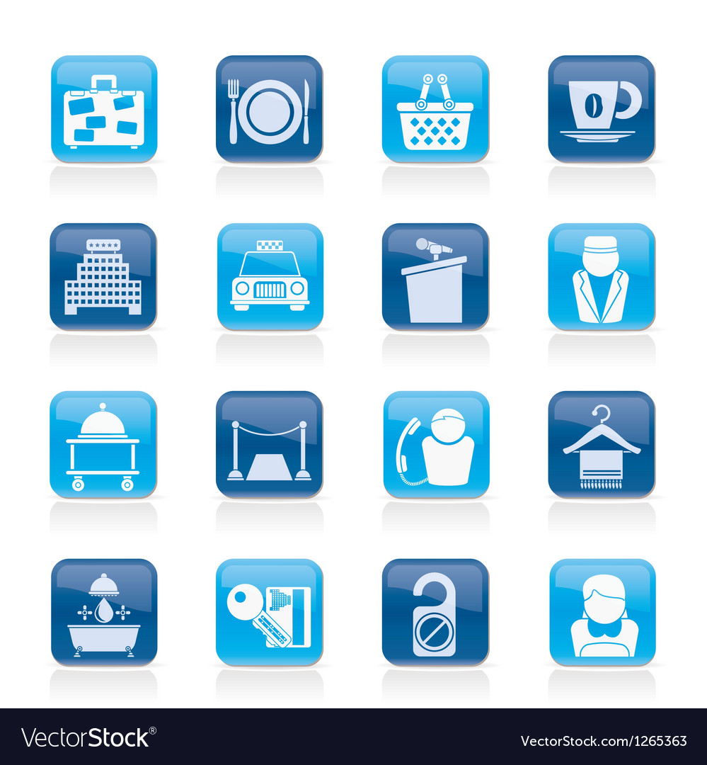 Hotel and motel services icons vector | Price: 1 Credit (USD $1)