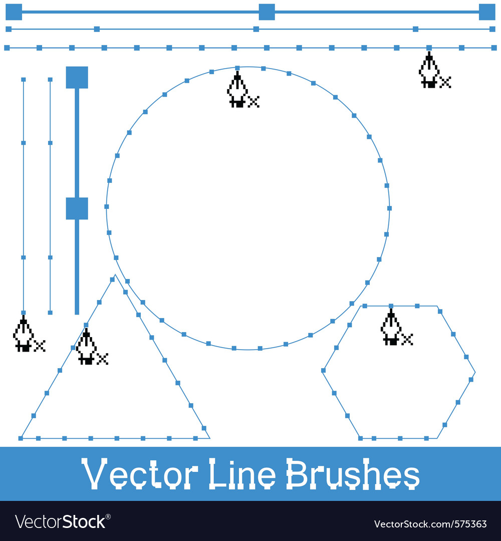 Line brushes vector | Price: 1 Credit (USD $1)