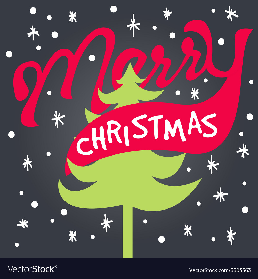 Merry xmas lettering vector   Price: 1 Credit (USD $1)