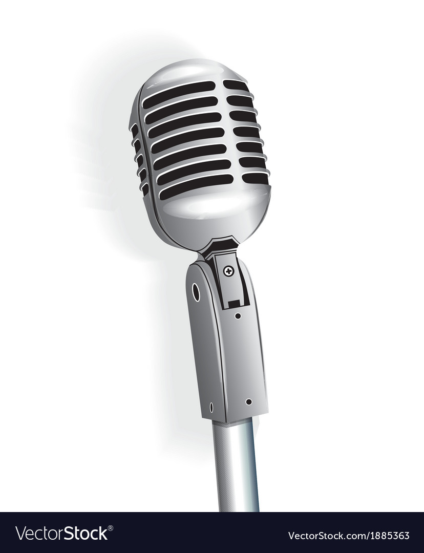 Microphone vintage metallic object vector | Price: 1 Credit (USD $1)
