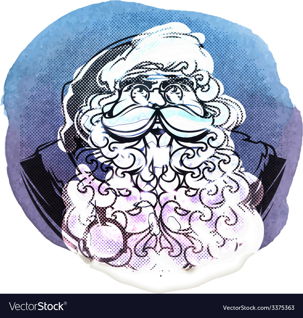 Santa claus isolated on white background vector | Price: 1 Credit (USD $1)