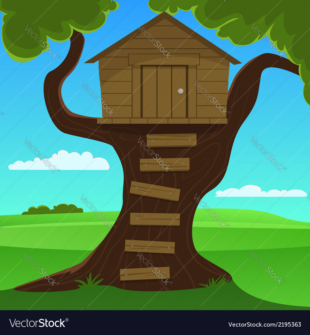Small tree house vector | Price: 1 Credit (USD $1)